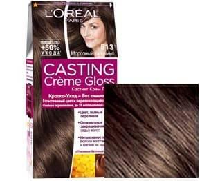 L'Oreal, Краска для волос Casting Creme Gloss (37 оттенков), 254 мл 513 Морозное Капучино l oreal краска для волос casting creme gloss 37 оттенков 254 мл 8304 карамельный капучино