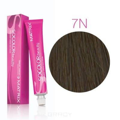 Matrix, Крем-краска для волос SoColor.Beauty, 90 мл (117 оттенков) SOCOLOR.beauty 7N блондинОкрашивание волос SoColor, Color Sync, оксиды, обесцвечивание<br><br>