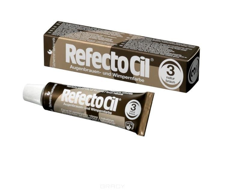 RefectoCil, Краска для бровей и ресниц, 15 мл (10 цветов) №3 Натурально-коричневый