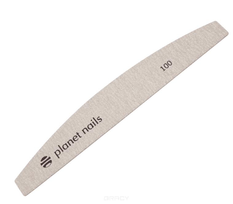 Planet Nails, Сменные наклейки для полукруглой пилки, зебра 100/180, 10 шт/уп planet nails сменные ногти на муляж руки 100 шт уп