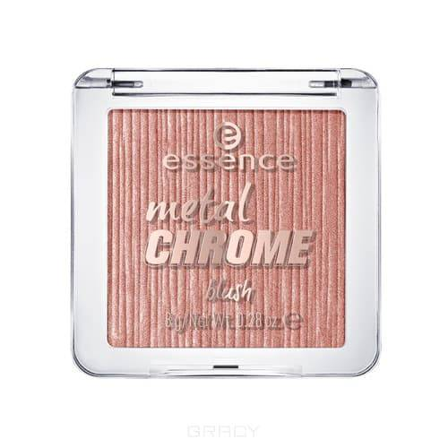 Essence, Румяна Metal chrome (2 тона), 1 шт, Тон 10, золотой essence matt touch румяна тон 10