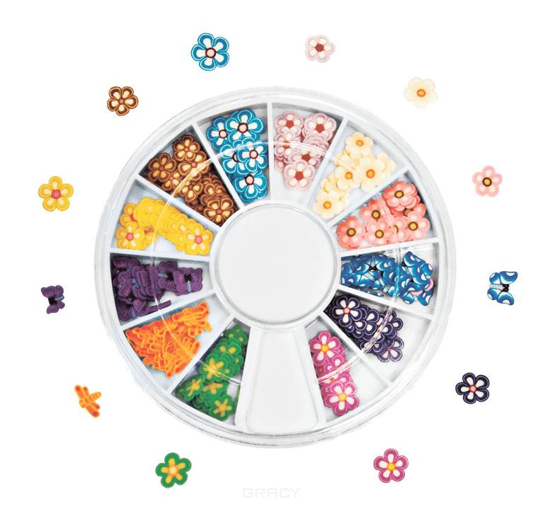Planet Nails, Фимо декор в нарезке (карусель 8 видов) Фимо декор в нарезке (карусель 12 видов)Дизайн для ногтей<br><br>