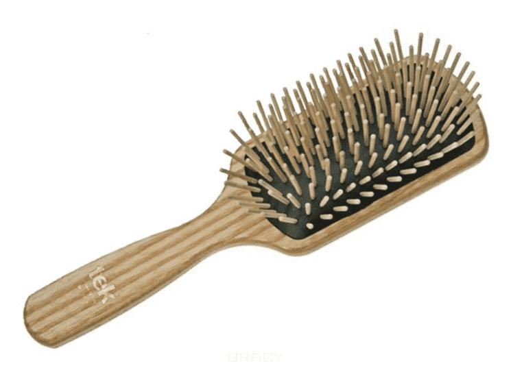 Щетка массажная прямоугольная 11 рядов деревянная, 102103 цена