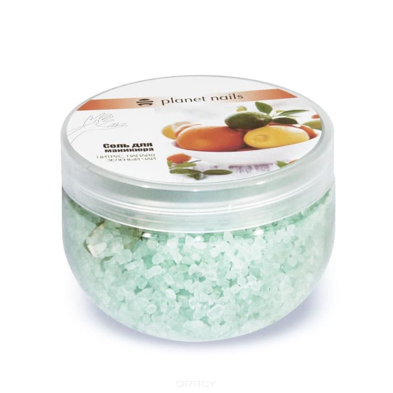 Planet Nails, Соль для маникюра Цитрус и зеленый чай, 350 гСоли для маникюра и педикюра<br><br>