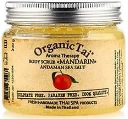 Купить Organic Tai, Скраб для тела Aroma Therapy Body Scrab Mandarin Andaman Sea Salt, 200 гр