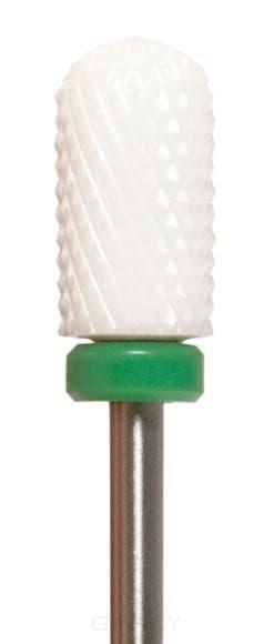 Planet Nails, Керамическая фреза для аппаратного маникюра закругленный цилиндр Планет Нейлс 4,6 мм, 1 шт, 4,6 мм фото