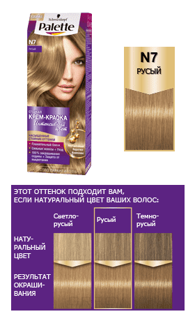 Schwarzkopf Professional, Краска для волос Palette, 50 мл (29 оттенков) N7    РусыйОкрашивание Palette, Perfect Mousse, Brilliance, Color Mask, Million Color, Nectra Color, Men Perfect<br><br>