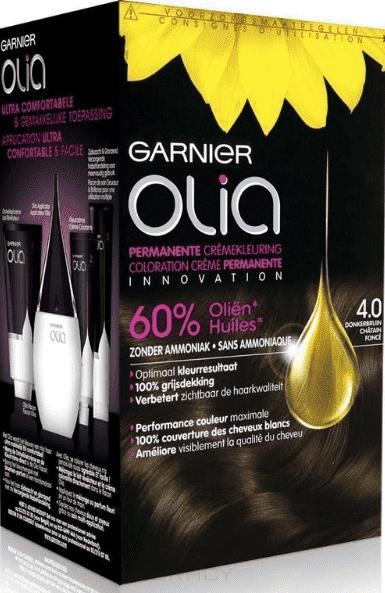 Garnier, Краска для волос Olia, 160 мл (24 оттенка) 4.0 ШатенGreenism - эко-серия для ухода<br><br>