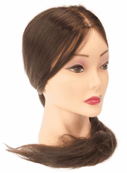 Dewal, Голова учебная шатенка, протеиновые волосы, 50-60 см голова учебная dewalшатенка натурал волосы 45 50 см