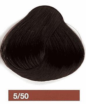 Lakme, Перманентная крем-краска Collage, 60 мл (99 оттенков) 5/50 Светлый шатен махагоновый be hair be color 12 minute light chestnut mahogany краска для волос тон 5 5 светлый шатен махагоновый 100 мл