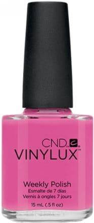 CND (Creative Nail Design), Винилюкс Профессиональный недельный лак VINYLUX™ Weekly Polish (54 оттенка) 15 мл # 121 (Hot Pop Pink) 10 pcs creative u shape spill proof nail polish stickers tool manicure nail sticker finger cover tool