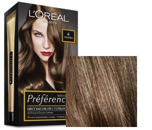 LOreal, Краска дл волос Preference (27 оттенков), 270 мл 6 Мадрид темный русыйОкрашивание волос Casting, Preference, Prodigy, Excellence<br><br>