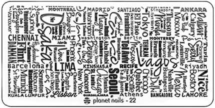 Planet Nails, Пластина для Stamping Nail Art (25 видов) - 22