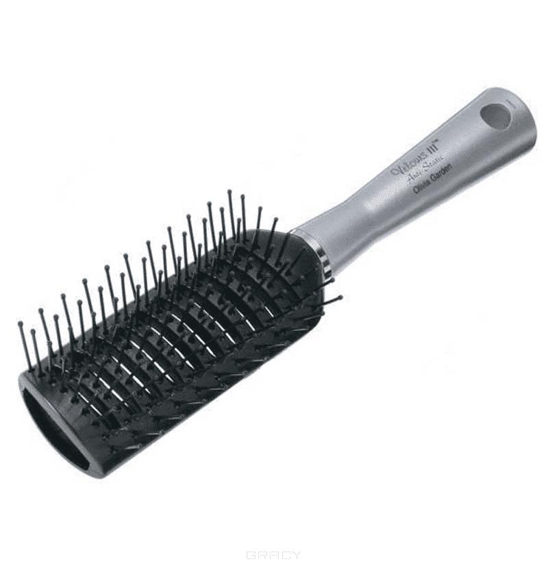 Щетка Velours 3 Vent OGBV3Щетка для волос Olivia Garden Velours 3 Vent OGBV3 с пластиковым основанием и штифтами с шариками из термостойкого нейлона. Предназначена для длинных и средних волос.<br>