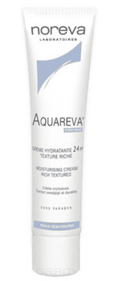 Noreva, Увлажняющий крем 24 часа, насыщенная текстура Aquareva, 40 мл noreva успокаивающий увлажняющий крем psoriane 40 мл успокаивающий увлажняющий крем psoriane 40 мл 40 мл