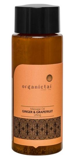 Купить Organic Tai, Массажное масло для тела с имбирем и грейпфрутом Massage Oil Ginger & Grapefruit Lifting, 100 мл