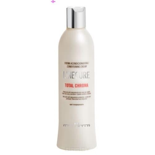 Кондиционер для окрашенных волос Total Chroma, 300 млКондиционер для окрашенных волос Total Chroma является высокоэффективным продуктом, успешно поддерживающим цвет волос, которые были ранее окрашены. Он удерживает цветовой пигмент во внутренней части волоса, а также придает превосходный блеск. В составе кондиционера для окрашенных волос содержится аргановое масло, экстракт лотоса (придает мягкость и питает волосы), циклопентасилексан (восстанавливает волосы, предотвращает сечение кончиков), поликватерниум 11 и цетримония хлорид (улучшают расчесывание, увлажняют волосы).<br>
