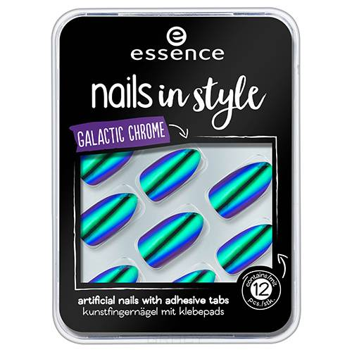 Essence, Накладные ногти на клейкой основе Nails In Style (6 вариантов) №06, зеленый хамелеон