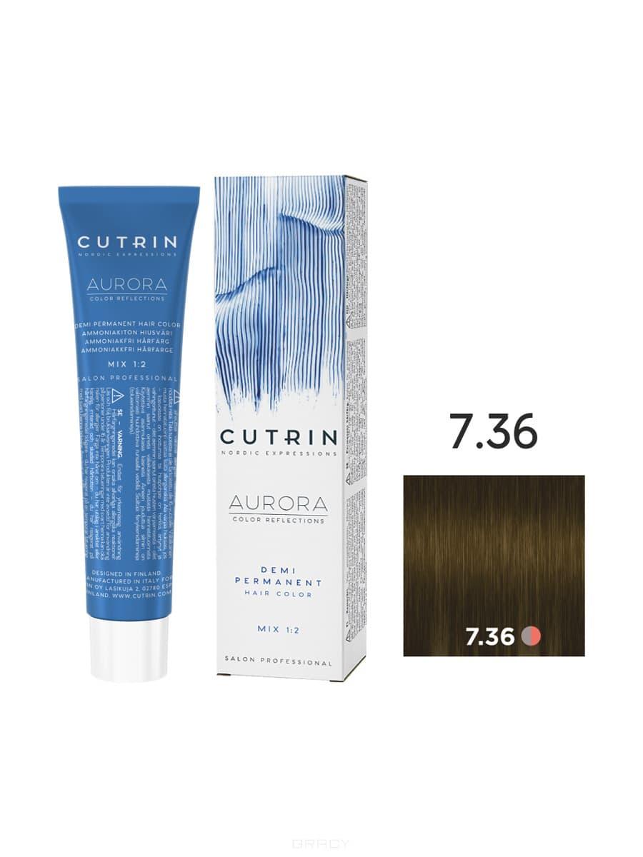 Купить Cutrin, Безаммиачная краска Aurora Demi (Новый дизайн Reflection Demi), 60 мл (55 оттенков) 7.36 Золотой песок