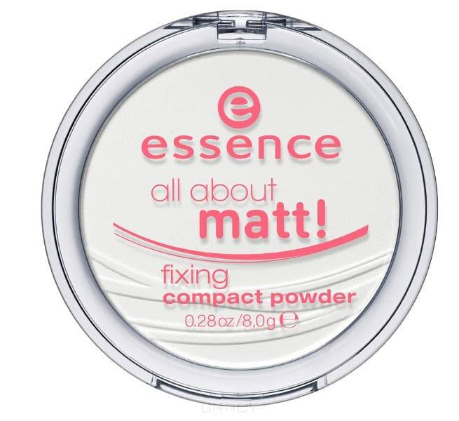 Купить Essence, Пудра для лица All About Matt! Fixing Compact Powder (2 вида), 11 гр, loose powder прозрачная