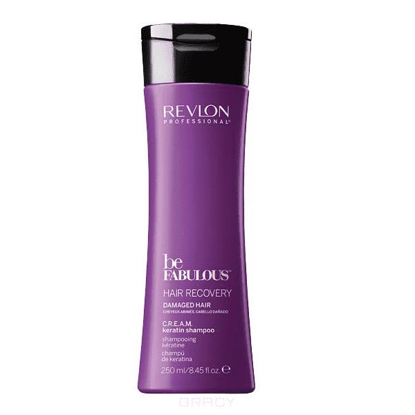 Очищающий шампунь с кератином Be Fabulous Hair Recovery Keratin Shampoo, 250 мл ollin professional очищающий шампунь с кератином keratin infused purfying shampoo 100 мл