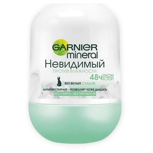 Garnier, Роликовый дезодорант Mineral Невидимый Против Влажности, 50 млДезодоранты мужские и женские Гарньер<br><br>