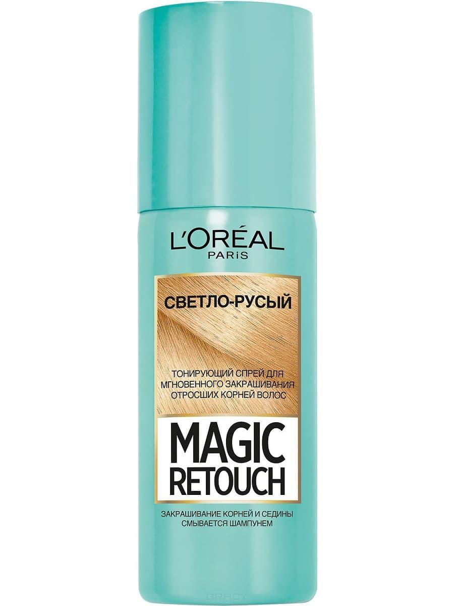 L'Oreal, Краска спрей в баллончиках Magic Retouch, 75 мл (7 оттенков) 5 Светло русый краска для авто в баллончиках