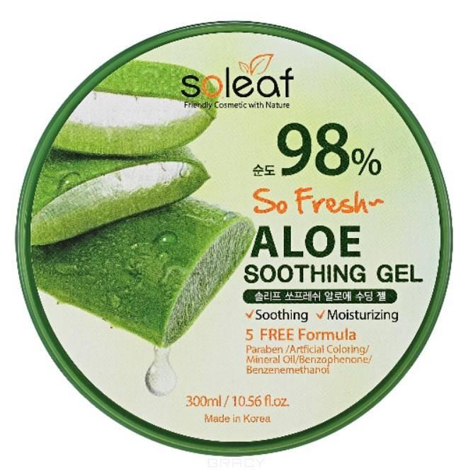Купить Soleaf, Успокаивающий гель с алоэ So Fresh Aloe Soothing Gel, 300 мл