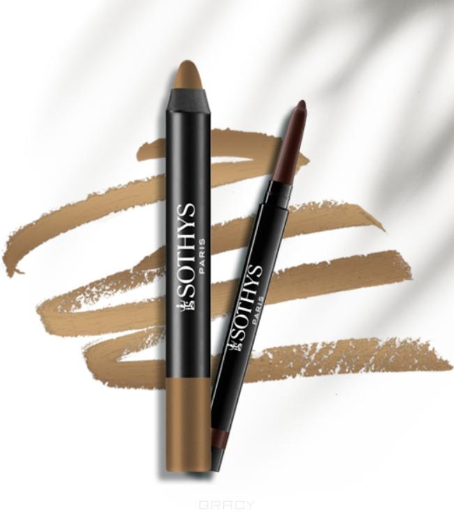Sothys, Набор для глаз карандаш + тени Duo Smoky Yeux, (4 цвета), 1 шт, Серебристо-серый фото