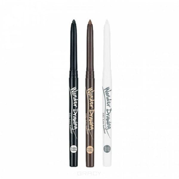 Holika Holika, Автоматический карандаш-подводка Вандер Дроуинг Wonder Drawing Auto Eyeliner, 2 г (3 тона), 2 г, Тон 01 черный подводка карандаш holika holika wonder drawing skinny eye liner