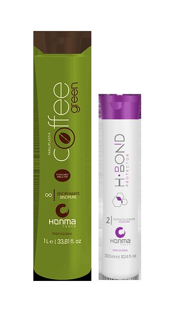 Купить Honma Tokyo, Набор для кератинового выпрямления волос Coffee Green + H-Bond Protector P2 Набор для кератинового выпрямления волос Coffee Green + H-Bond Protector P2