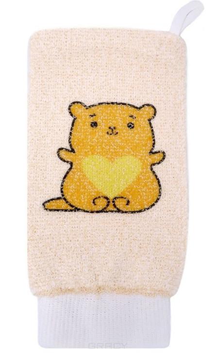 Vival, Мочалка детская рукавица из хлопка с рисунком  - Купить