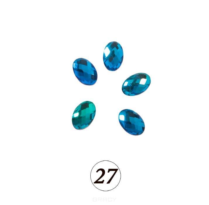 Planet Nails, Цветные фигурные стразы в ассортименте (76 видов), 5 шт/уп Планет Нейлс №27 фото