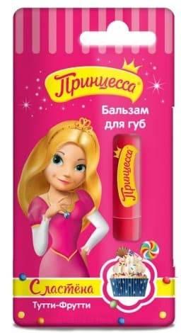 Принцесса, Бальзам для губ Тутти-фрутти 3.8 гр зубная паста babyline тутти фрутти