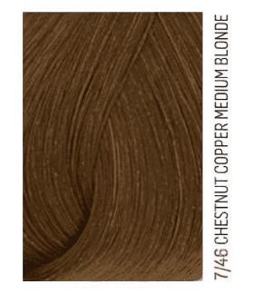 Lakme, Перманентная крем-краска для волос без аммиака Chroma, 60 мл (32 тона) 7/46 Средний блондин медно-коричневый lakme перманентная крем краска для волос без аммиака chroma 60 мл 32 тона 9 60 светлый блондин коричневый 60 мл