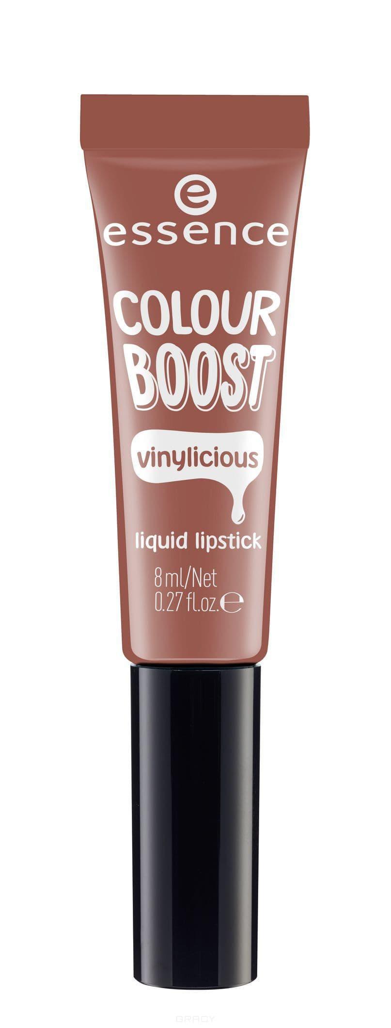 все цены на Essence, Жидкая губная помада Colour Boost Vinylicious Liquid Lipstick, 8 мл (6 тонов) №02, нюдовый онлайн