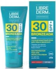 Купить Librederm, Крем для лица и зоны декольте солнцезащитный SPF30 Bronzeada, 50 мл