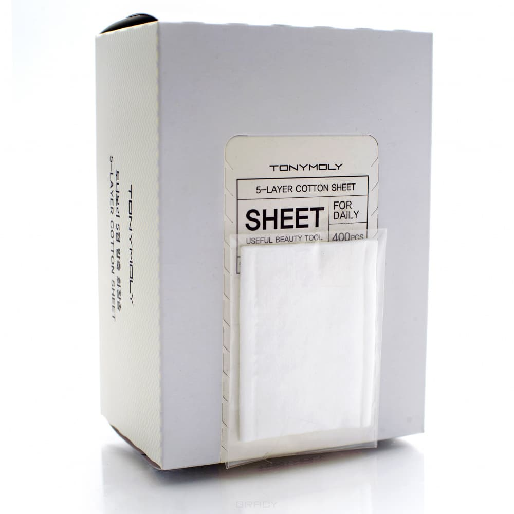 Tony Moly, 5-ти слойные ватные диски 5-Layer Cotton Sheet, 400 шт