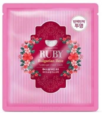 Купить Koelf, Hydrogel Mask Pack Гидрогелевая маска для лица с рубиновой пудрой и болгарской розой Ruby & Bulgarian Rose Hydro Gel Mask, 30 г
