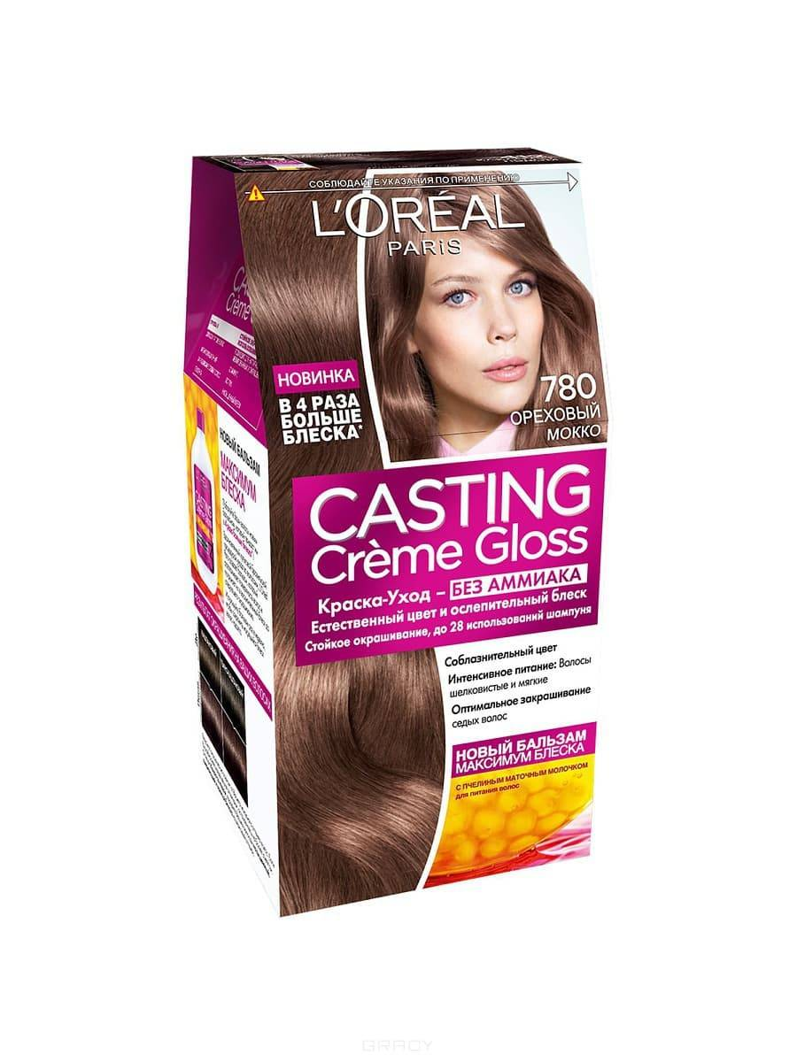 LOreal, Краска дл волос Casting Creme Gloss (37 оттенков), 254 мл 780 Ореховый моккоОкрашивание волос Casting, Preference, Prodigy, Excellence<br><br>