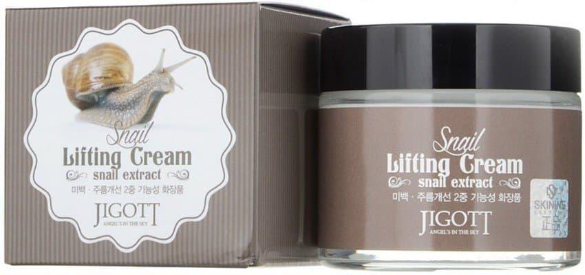 Купить Jigott, Snail Lifting CreamКрем для лица с экстрактом слизи улитки, подтягивающий Джиготт, 70 мл