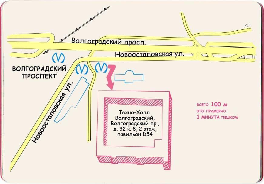 Проспект Схема проезда