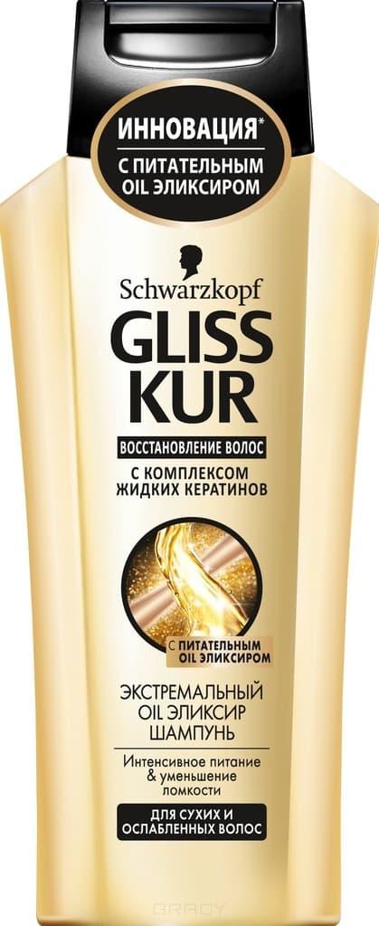 Gliss Kur, Шампунь Экстремальный Oil эликсир для сухих и ослабленных волос, 250 мл