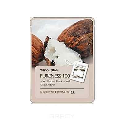 Tony Moly, Маска с экстрактом масла Ши Pureness 100 Shea Butter Mask Sheet Moisturizing, 21 мл
