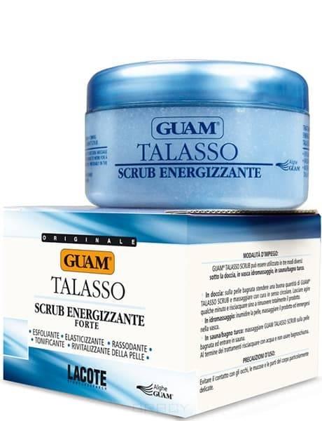 Guam, Скраб для тела тонизирующий увлажняющий Talasso, 420 гр