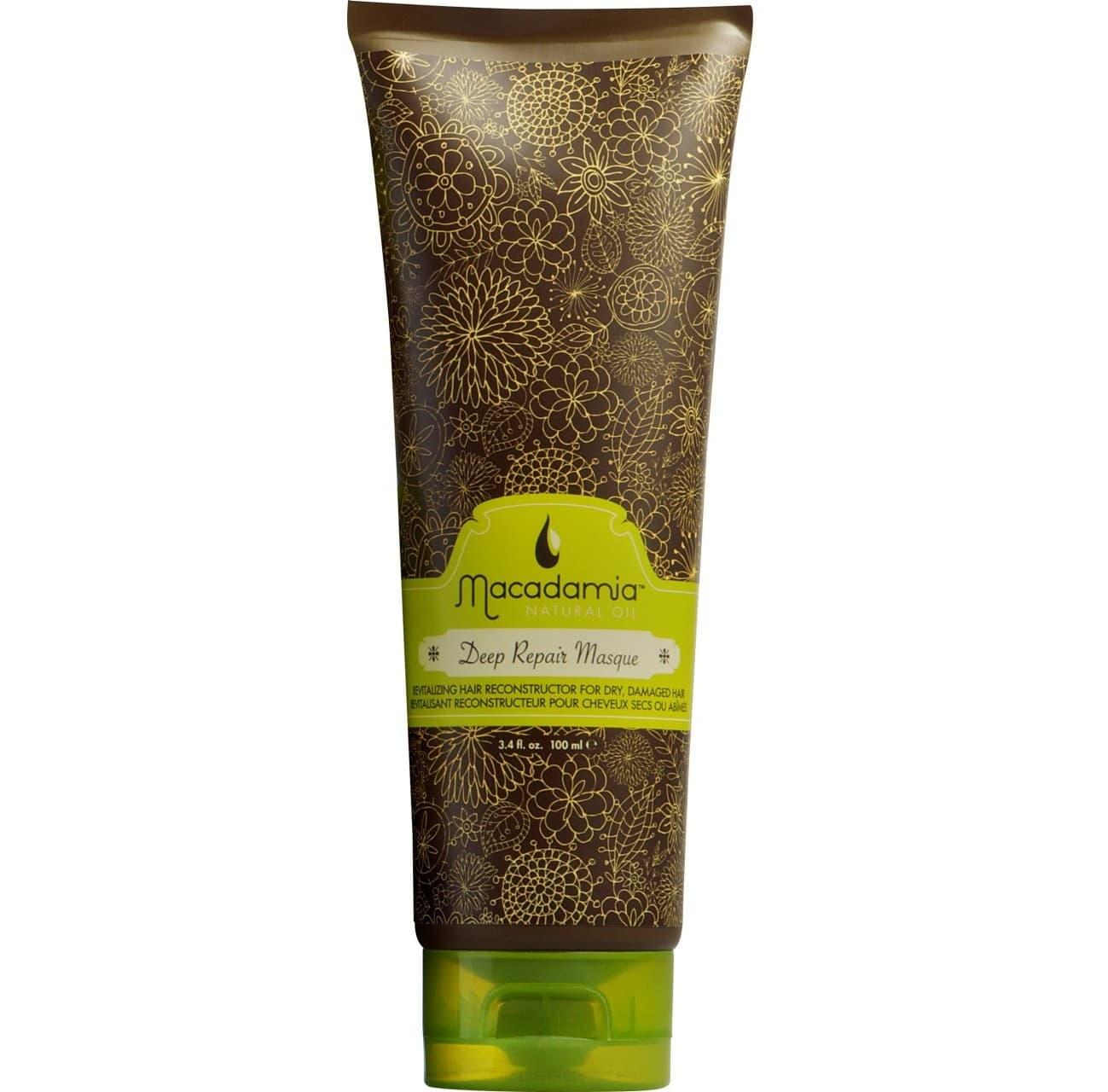 Macadamia Natural Oil, Маска восстанавливающая интенсивного действия с маслом арганы и макадамии Deep Repair Masque, 236 мл