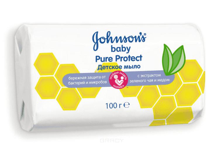 Johnson's Baby Детское мыло Pure Protect, 100 гр, Детское мыло Pure Protect, 100 гр, 100 гр mick johnson motivation is at