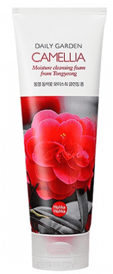 Holika Holika Пенка для лица с экстрактом камелии Daily Garden Tongyeong Camelia Moisture Cleansing Foam, 120 мл, Пенка для лица с экстрактом камелии Daily Garden Tongyeong Camelia Moisture Cleansing Foam, 120 мл, 120 мл пенка the face shop green tea phyto powder cleansing foam объем 170 мл