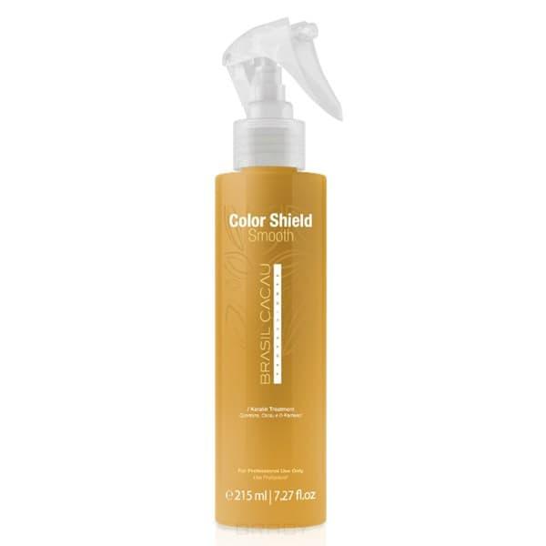 Cadiveu Professional Спрей Защита цвета и разглаживание волос течение 4-х недель Brasil Cacau color shield and smooth, 215 мл professional pop filter shield for microphone