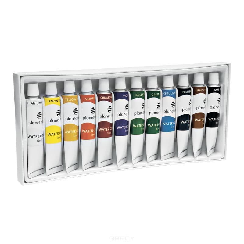 Planet Nails Краска акриловая на водной основе, 12 мл, 24 цвета гель лаки planet nails гель краска без липкого слоя planet nails paint gel неоново желтая 5г